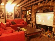 "Your holiday apartment has an adjacent video room with 84"" surround sound system available for one night for each week of your stay in Cricklade"